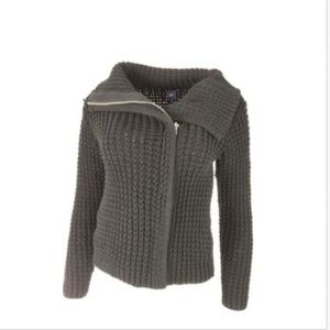 GAP sweater sz XS heavy Knit Moto Cardigan